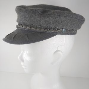 Authentic Vintage German Fisherman's Cap Gray Wool